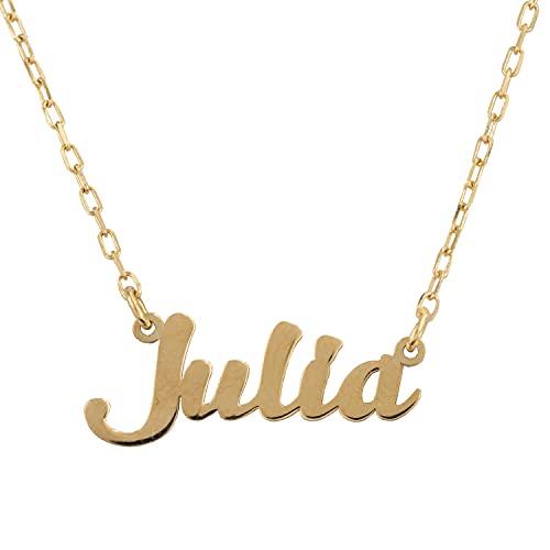PRIORITY Gargantilla con Nombre Personalizado en Oro 18K | Collar Nombre Oro | Gargantilla Nombre Personalizado | Colgante Personalizado Oro