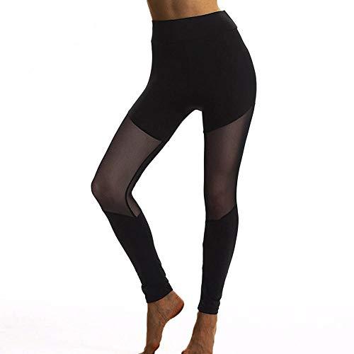 Harem hippiebroek voor dames,Fitness yoga legging, perspectief mesh legging-zwart_Large_China,Shirts Sport Running Gym Outdoor