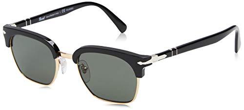 Persol 0PO3199S Gafas de sol, Rectangulares, Polarizadas, 49, Black