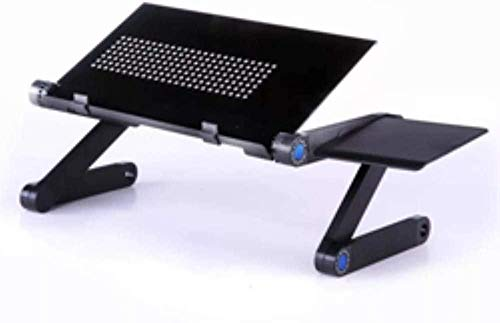 YSSJT Escritorios para computadora Portátil Ajustable portátil portátil Lap PC Mesa de Escritorio Plegable Soporte ventilado Bandeja de Cama Ventilador y Alfombrilla de ratón