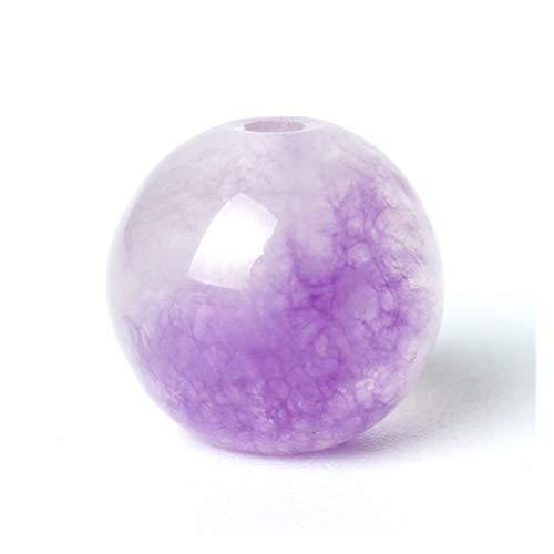 HETHYAN Natural Cuentas de Piedras Preciosas Perlas Sueltas púrpura Violeta de Jasper Rosario 6/8 / 10 mm 15' Making Jade Cuarzo Pulsera de Piedra for Gem (Size : 8mm 47pcs Beads)