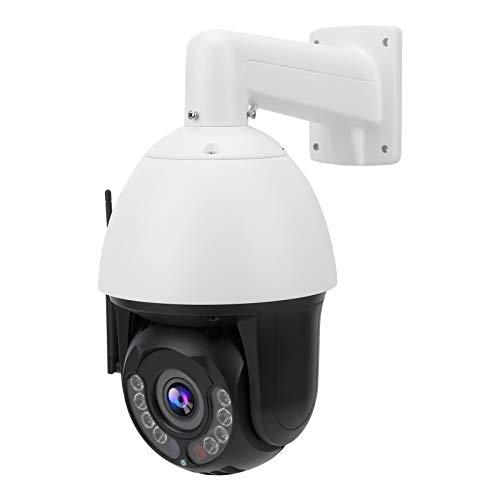 FOLOSAFENAR Cámara Wi-Fi 1080P a Todo Color, cámara panorámica, cámara de visión Nocturna CCTV PTZ WiFi Cámara de Seguridad(European regulations)