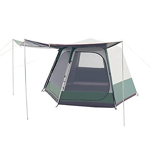 Carpa para Camping 5-6 Personas Espesamiento Totalmente automático Apertura rápida Gratis Tienda Hexagonal a Prueba de Lluvia Protector Solar de Playa Acampar al Aire Libre Acampar,