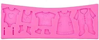 ادوات خبز وتزيين الكيك وصنع الشوكلاته يمكنك استخدامها بنفسك، قوالب ثلاثية الابعاد من السيليكون على شكل ملابس اطفال خاصة لح...