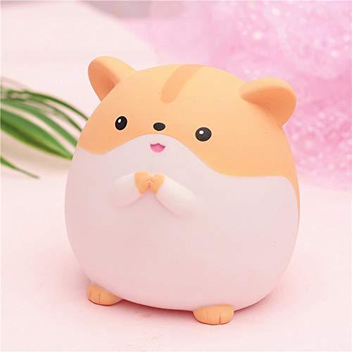 AKDSteel – Caixa de resina para animais de estimação em forma de hamster, Yellow - S, Pippi mouse series