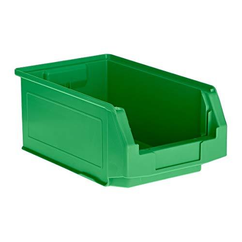 SSI Schäfer Kunststoffbox Sortierbox Stapelbox LF 321, Aufbewahrung, Made in Germany, Polypropylen (PP), L 343 x B 209 x H 145 mm, 7,5 l, Grün