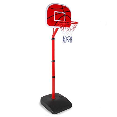 LZL Base Cuadrada Grande de NC Codo portátil Baloncesto Hoop Stand Soporte Tablero Sistema Altura Ajustable Niños Baloncesto Meta Interior al Aire Libre con Ruedas (Color : Red)