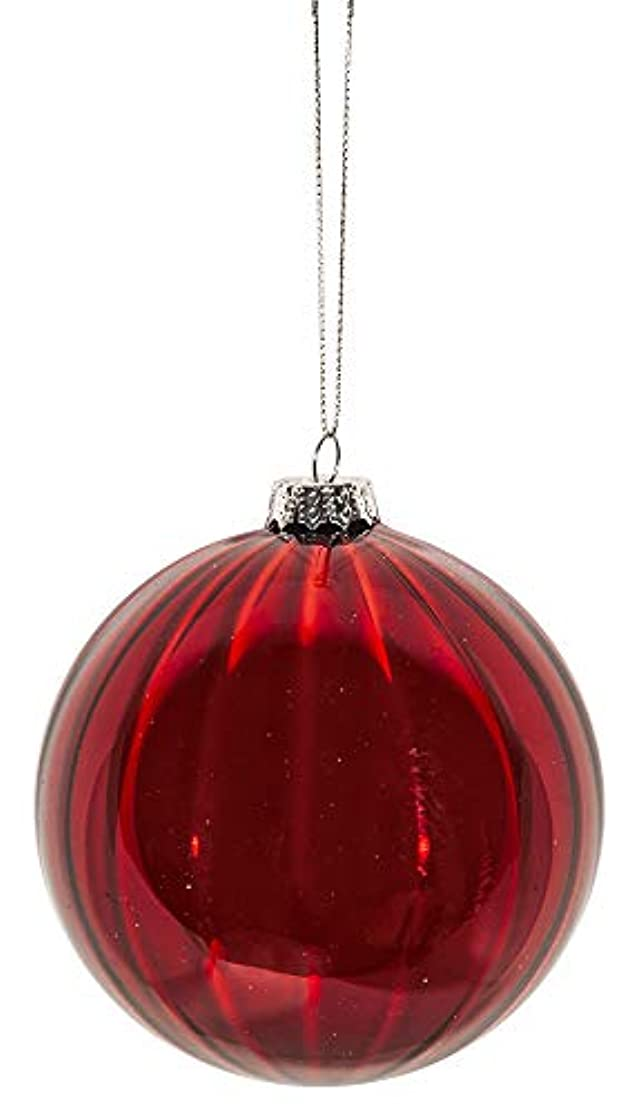 Home & Christmas Red Glass Ball 6 cm Display, Red, One Size
