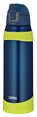 Thermos Thermosflasche, Edelstahl blau, 1 l