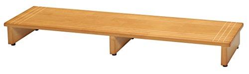 永井興産 木製玄関踏み台120 幅120×奥行35×高さ13.2cm アジャスター付きNK-1235