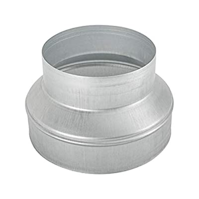 dojobkinb Duct Reducter 8 to 6 Ducting Reducer Air Duct Adapter Or Round Metal Pipe Reducer for Bathroom Kitchen Ventilation Systems