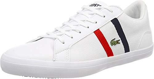 Lacoste Herren Lerond 119 3 CMA Sneaker, Weiß (Wht/Red/NVY 394), 43 EU