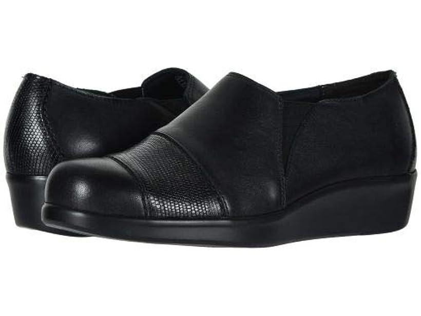 治世花火つかの間SAS(サス) レディース 女性用 シューズ 靴 フラット Nora - Black/Lizard [並行輸入品]