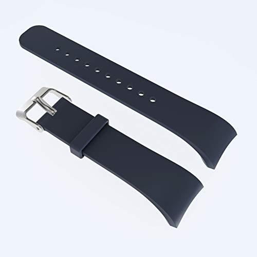 Unbekannt FGH Herren-Armbanduhr aus Leder für Galaxy Gear Fit2 R360 (Schwarz)