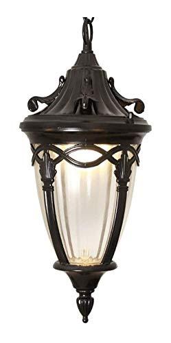 Lámpara de pared a prueba de polvo a prueba de agu Impermeable al aire libre de la lámpara de techo suspendido de aluminio cuerpo de la lámpara de iluminación pantalla de cristal pendiente de la luz f