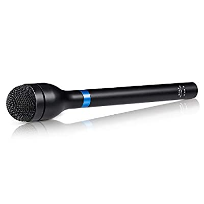 BOYA BY-HM100 Dynamic Omnidirectional Handheld XLR Microphone Long Handheld Mic for ENG & Interviews & News Gathering and Report