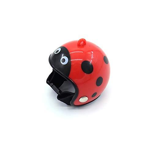 Casco de Pollo Gorra para Mascotas Sun Rain Helmet Toy Bird Hens Small Pet Supplies Disfraces Accesorios (Color : Ladybug)