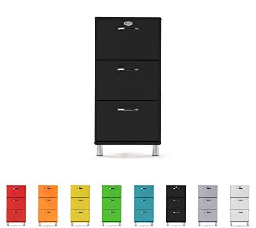 TENZO 5263-033 Malibu - Scarpiera Design, 121 x 58 x 24 cm, MDF Laccato, Nero (Schwarz)