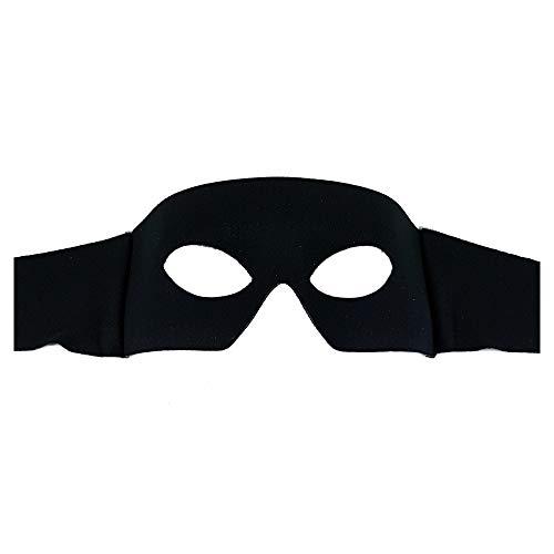 Samantha Peach Zorro Nero Uomo Maschera di Carnevale Veneziana Ballo in Maschera - qualità Superiore - Realizzato in Italia