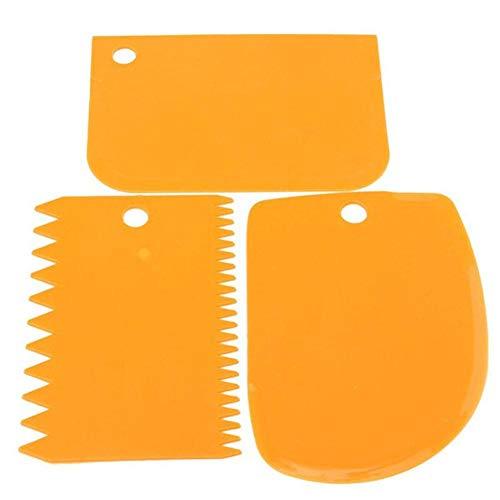 Teigschaberkarte, Teigspachtel aus Kunststoff, hochwertiger Teigschneider, Schaber zum Glattstreichen von Teig - flexibles Material