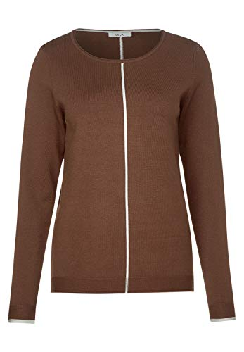 Cecil Damen 301164 Pullover, Braun (Caramel Brown 12085), Large (Herstellergröße:L)