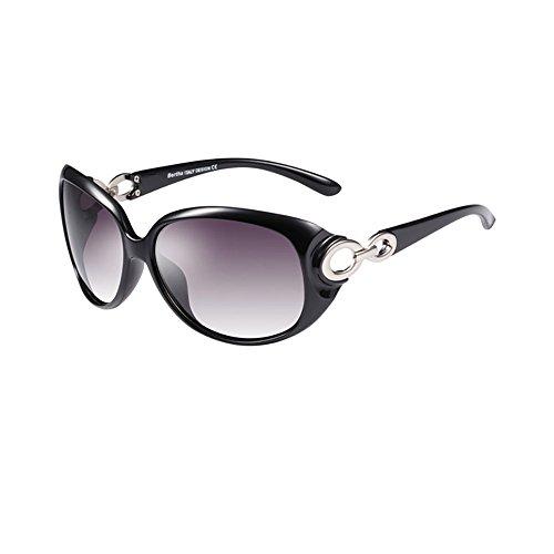 Sonnenbrille Mode beliebt Frau UV400 Anti Glare Anti-UV polarisierte Licht Sonnenbrillen ( farbe : Schwarz )