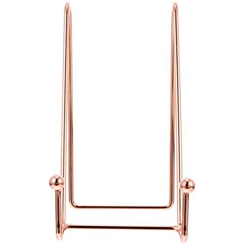 BESPORTBLE Soporte para expositores de hierro, soporte para caballete, soporte para marco de alambre metálico, revistero organizador para cuadros, plato decorativo, plato de mesa, Art 15 x 13 cm