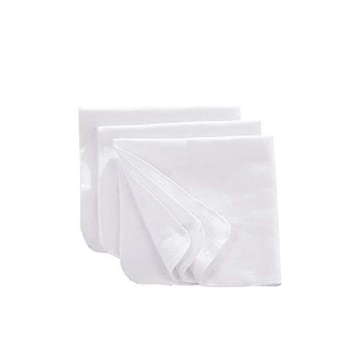 Bornino Carrés flanelles couche en tissu, blanc