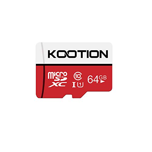 KOOTION Carte SD 64 Go Micro SD Carte Mémoire UHS-I Vitesse jusqu'à 80 m/s,TF Micro SDXC, T-Flash Classe 10, U1 pour Drone/Dash Cam/Camera/Phone/Nintendo-Switch/PC/Tablet(64 Go, U1)