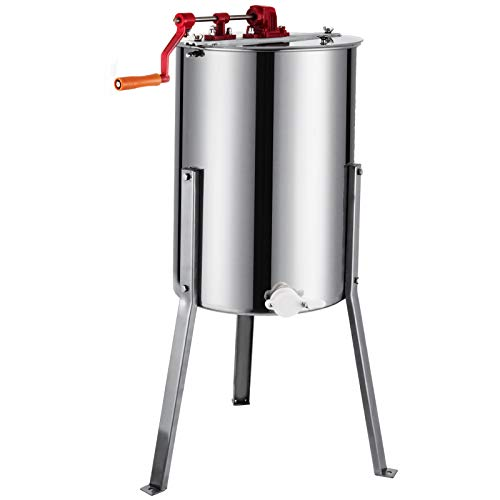 BestEquip Manual Honey Extractor Separator 3 Frame Bee Extractor Stainless Steel Honeycomb Spinner...