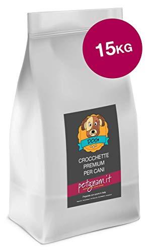 Petgnam Light 15 kg Maiale Croccantini Crocchette per Cani a Dieta Sterilizzati e Anziani Made in Italy 100% Naturali delle Dolomiti