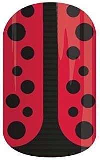 Jamberry Nail Wraps - Lady In Red - Full Sheet - Red & Black Ladybug