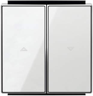 Niessen sky - Tecla interruptor persiana cristal blanco
