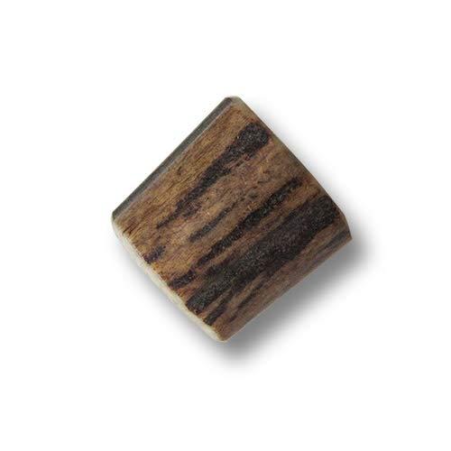Knopfparadies - 3 zünftige Perlen aus echtem Hirschhorn/Geweih. Perfektes Trachtenzubehör, als Kordelstopper oder Schmuck an Taschen! Durchmesser ca. 14x18mm!
