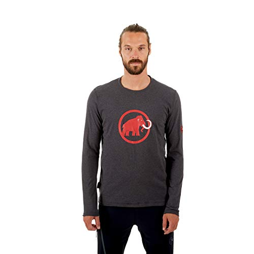 Mammut T-Shirt à Manches Longues pour Homme avec Logo Phantom Melange, S