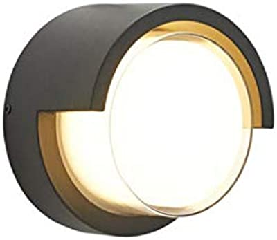 CITRA LED Outdoor Lamp Modern Wall Sconce Light Fixture Round 3000k Waterproof Acrylic Wall Light (Warm White)