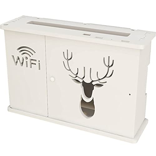Estante Flotante, Soporte para Rack de enrutador, Caja de Almacenamiento WiFi, Caja organizadora de Cables, Protector de Tira de alimentación, Caja de Almacenamiento (Size : 39.5×12×26cm)