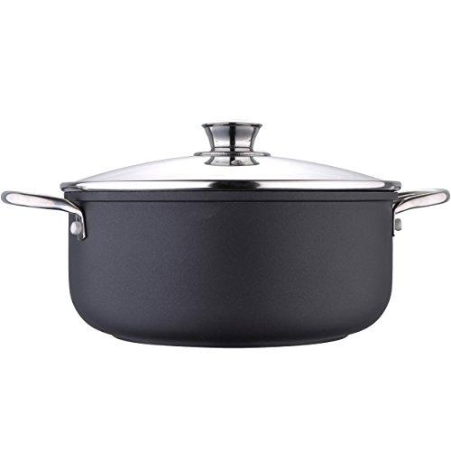 Bergner casserole Moon de soupe, aluminium forgé, noir, 16 cm