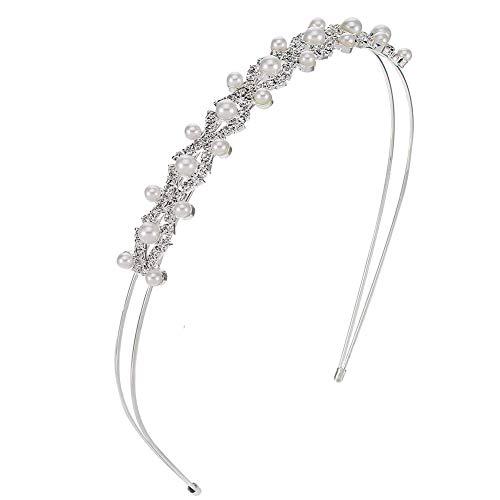 Haarreif, Strass Haarreif Haarschmuck, Elegant Weiße Perlen, für Hochzeit, Geburtstag, Party, Valentinstag, Geschenk