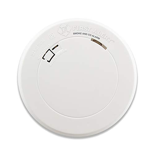 First Alert Smoke Detector and Carbon Monoxide Detector Alarm with Built-In 10-Year Battery, BRK...