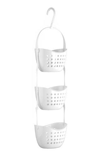 Premier Housewares 1601488 Portaoggetti da Doccia, 3 Livelli in PP Bianco