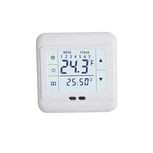 HehiFRlark - Termoregulador de temperatura para control de temperatura para Warm Floor Electric Heating System blanco
