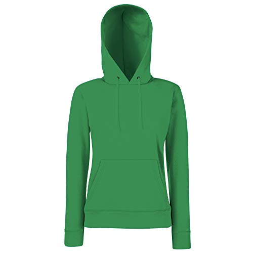 Fruit of the Loom - Lady-Fit Hooded Sweat M,Kelly Green