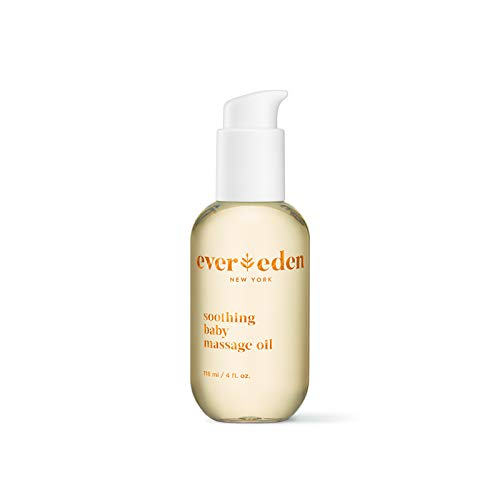 Evereden Soothing Baby Massage Oil, 4 fl oz. | Clean Baby Care | All Natural and Plant Based | Non-toxic and Fragrance Free