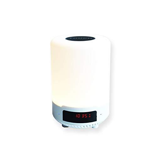 Eric coloré LED veilleuse multifonction Bluetooth musique lumière Smart musique veilleuse Bluetooth haut-parleur de type tactile maison lieu couloir dimmable