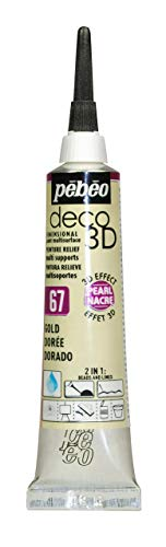 PEBEO Deco 3D Pearl 20ml, Acrylic, Gold, 13 x 2 x 3 cm