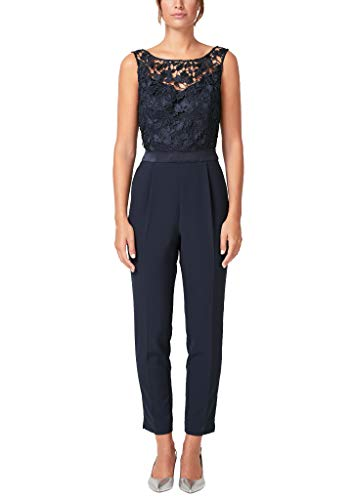 s.Oliver BLACK LABEL Damen 70.909.85.5650 Jumpsuit, Blau (True Blue 5959), (Herstellergröße: 38)