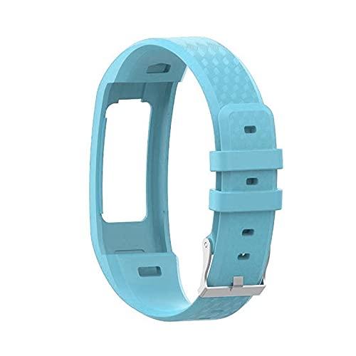 YNLRY L De La Banda De Reloj De Reemplazo De La Correa De La Muñeca De Silicona De L De Garmin VIVOFIT 1 / VIVOFIT 2 para Garmin VIVOFIT1 VIVOFIT2 Pulsera Cinturón (Color : 06 Blue)