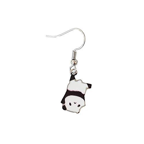 Handgemaakte Panda Baby Speelse Leuke Sticker Oorbellen Oorbellen Vrouwelijke Oorbellen