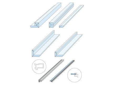 Pocket Kit Schiebetürsystem KNAUF Zargenlose Türlaibung für Glastürblatt Fertigwanddicke125 mm